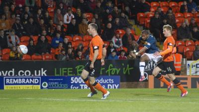 Chris Humphrey scored his first goal of the season at Tannadice