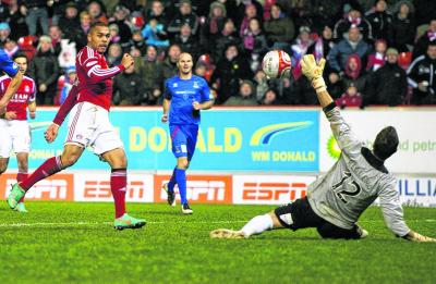 Josh Magennis scored twice but to no avail