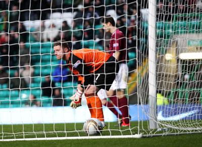Arbroath's Scott Morrison reacts after the own goal by Alex Keddie