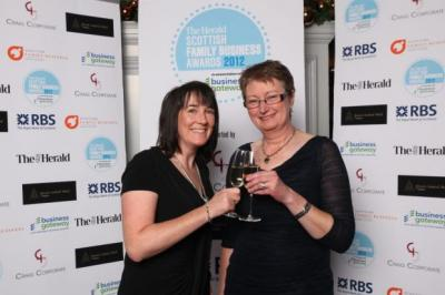 CHEERS: Jillian Plenderleith and Linda Johnston of Auchrannie toast the hotel's success. Picture: Marc Turner