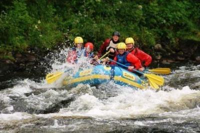 STORMY WATERS: The popularity of rafting has brought anglers and rafters into conflict. Picture: www.rafting.co.u,