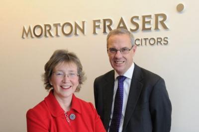 BIG BUSINESS: Morton Fraser chairman Linda Urquhart and chief executive Duncan Murray.