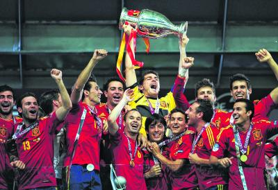 Spain won the finals in Kiev last summer. Might they do so again in Glasgow in eight years time?