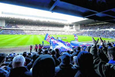 Rangers recorded their  largest crowd of the season  last weekend and need to  do so again. Picture: SNS