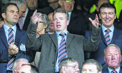 Craig Whyte, centre, seemed to have no comprehension of what it meant to own Rangers. Picture: SNS