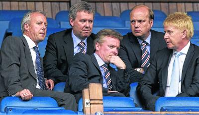 Donald Muir, right, was on the Rangers board when the club was sold to Craig Whyte. Picture: SNS