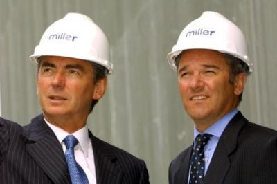 OPTIMISTIC: Miller Group chief executive Keith Miller and finance director John Richards have attracted vital funding. Picture: Mike Wilkinson
