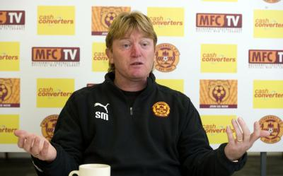 Stuart McCall has taken Motherwell from challenging for the top six last season to being on the cusp of second place this afternoon. Picture: SNS