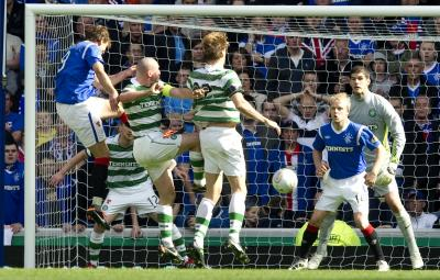 Nikica Jelavic and Steven Naismith led Rangers' attack in September. Picture: Reuters