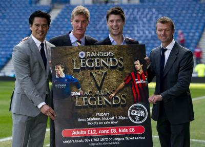 Michael Mols will play in the charity match between a Rangers Legends side and AC Milan Glorie