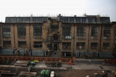 VIEW: Charles Rennie Mackintosh, below, and his best-known work, the Mackintosh Building at Glasgow School of Art. Picture: Jeff J Mitchell