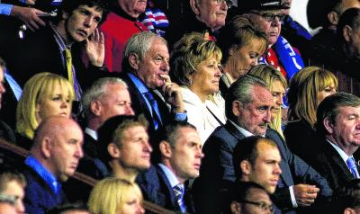 Walter Smith, an interested spectator at Ibrox these days . . .