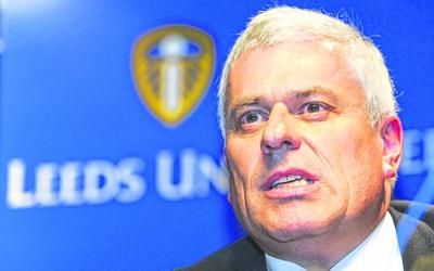 Peter Ridsdale  was Leeds United chairman before their fall into ruin and relegation, a story that was raised as an example for Rangers by Club 9 Sports. Picture: Getty Images