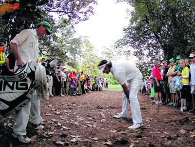 Plenty of coaches would have said Bubba Watson's shot from the trees at the second play-off hole was impossible. Picture: Getty Images