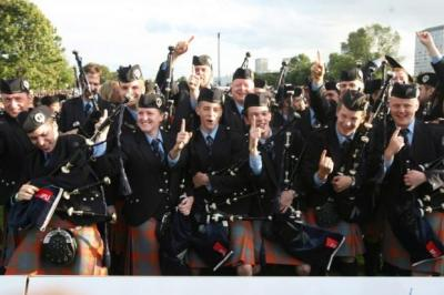 NUMBER ONE: The Simon Fraser University Pipe Band triumphed in the world championships in Glasgow in 2009.