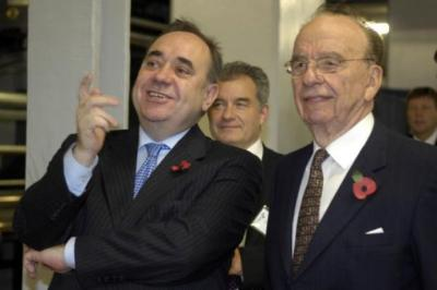 CLAIMS: Alex Salmond has been accused of offering to lobby on behalf of News Corporation chairman Rupert Murdoch. Picture: James Galloway