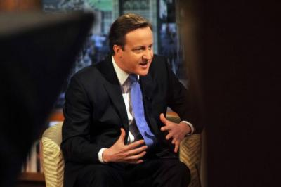 STRONG WORDS: The Prime Minister David Cameron has pledged to strain every sinew in making sure the UK's economic fortunes recover.