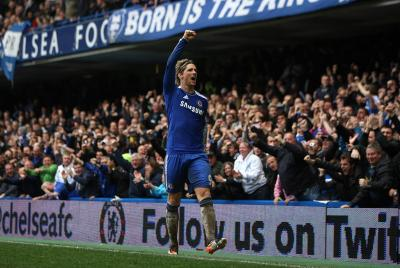 Fernando Torres celebrated a hat trick against QPR but such form has proven elusive since joining Chelsea. Picture: Reuters