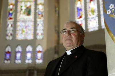 outgoing: Archbishop Mario Conti   has led Glasgow's Catholics  for 10 years.  Picture:  Mark Mainz