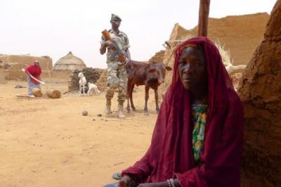 Rabi Ibrahima, in Sarou, tells of raiding termite mounds to feed her children