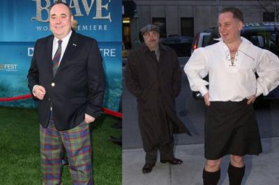 TREWS SORRY: Alex Salmond's outfit was derided by Jack McConnell, who was previously criticised for his black kilt.