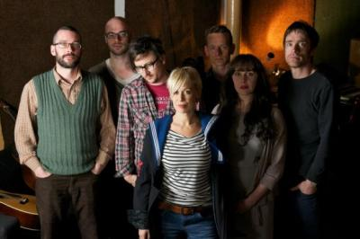 DARK ENERGY: Cora  Bissett, centre, with fellow artists involved in the late-night, early-morning performance project Whatever Gets You Through The Night.