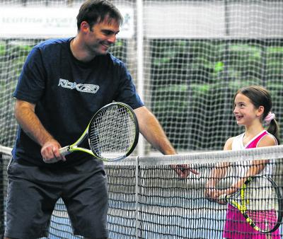 Marcel Du Coudray splits his time between Nikolay Davydenko and aspiring Scots. Picture: Gordon Terris
