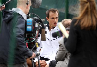 Lukas Rosol: man of the moment at SW19 . . .