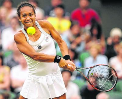 Heather Watson's bid to reach the fourth round foundered against the impressive world No.3, Agnieszka Radwanska