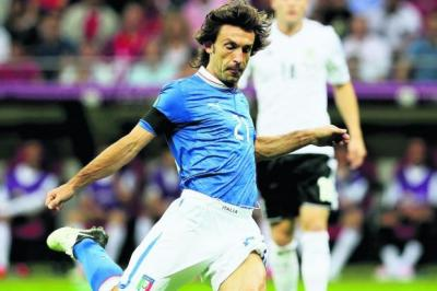 Prandelli's new Italy is built around the passing ability of its midfielders, principally Andrea Pirlo    Photograph: Getty
