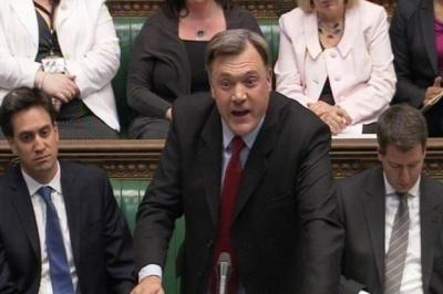 attacK: Labour's Ed Balls clashed with Chancellor George Osborne in the Commons over the rate-rigging scandal. Picture:PA