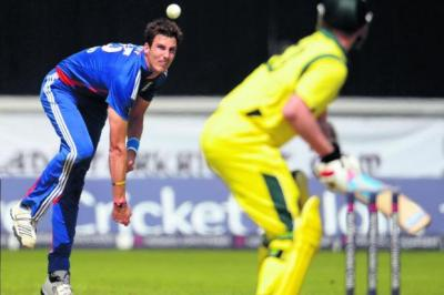 Steven Finn was the star for England   Photograph: Reuters