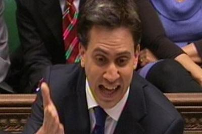 animated: Labour leader Ed Miliband during yesterday's Prime Minister's Questions. Picture: PA