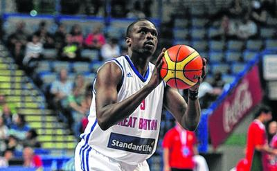 Luol Deng in action during the recent match between Standard Life Team GB and Portugal at Sheffield's Motorpoint Arena. Picture: Chris Brunskill/Getty Images