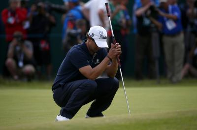 Adam Scott's long-handled putter let him down when it really mattered. Picture: Eddie Keogh/Reuters