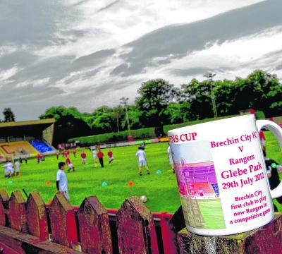 Merchandise for the Brechin City game against Rangers sold at pre-season match with Inverness Caley Thistle. Picture: SNS