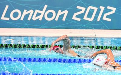 Rebecca Adlington found herself in lane eight