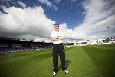 Derek Adams, the religious, teetotal,  non-swearing manager  of Ross County feels  a real duty of care  to his players. Picture: SNS