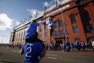 GAME ON: Rangers fans flocked to Ibrox for the East Fife match. Pictures: Mark Mainz
