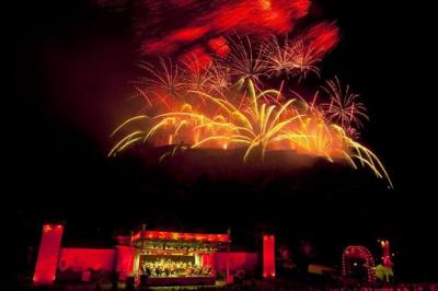 SIGHT AND SOUND: A dazzling firework display erupted over Edinburgh Castle as the Scottish Chamber Orchestra performed in Princes Street Gardens. Picture: Phil Rider