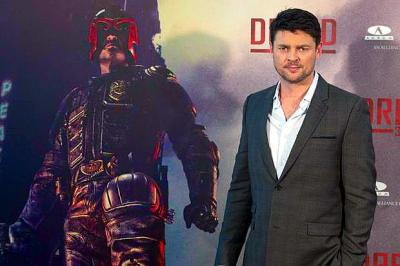 HERO WORSHIP: Karl Urban first fell in love with the Judge Dredd character at the age of 16 when he worked in a pizza parlour.