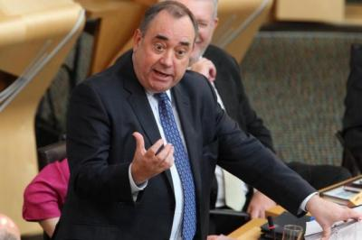 sour TASTE: Alex Salmond's 'Reshuffle Special with Freedom Sauce' is putting Johann Lamont off her food..Picture: Stewart Attwood