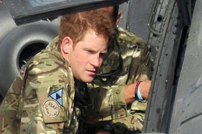 back IN ACTION: Prince Harry  is an Apache helicopter pilot.