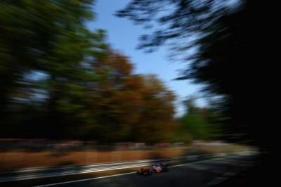McLaren's Lewis Hamilton on his way to claiming pole in Monza   Photograph: Getty
