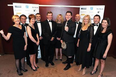 TEAM EFFORT: Staff from Harper Macleod enjoyed a night of success at the Law Awards of Scotland last night. Picture: James Galloway