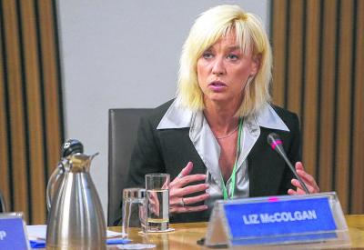 Liz McColgan at Holyrood yesterday: 'nothing new was said, nothing new brought to the table . . .'