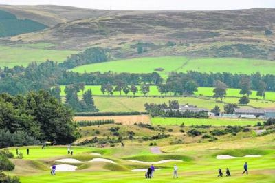 The Gleneagles fairways, according to the course manager Scott Fenwick, are still bone dry despite all the recent rain. Picture: Getty Images