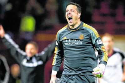 LONGEVITY: Jamie Langfield now holds the record for most clean sheets kept in the Scottish top flight with 98. Picture: SNS