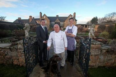 TESTING TIME: Albert Roux, Darin Campbell and Cromlix general manager Graeme Green hope to deliver quality food.