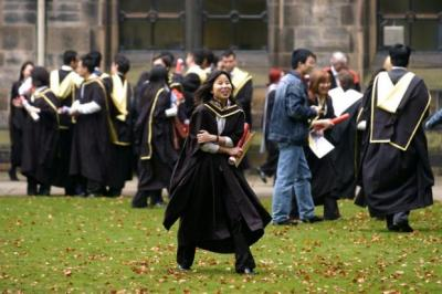 MAKING THE GRADE: Students in Scotland realise that a 'good degree' is vital to boosting career prospects.  Picture:  Martin Shields